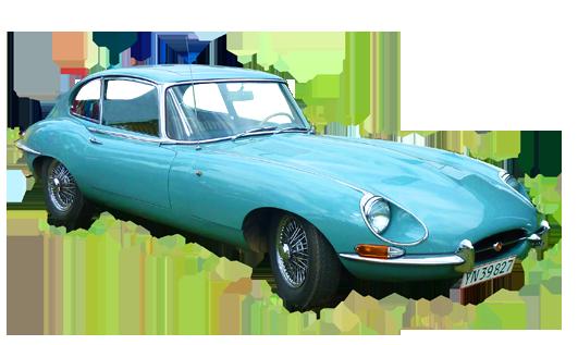 soft blue sports car