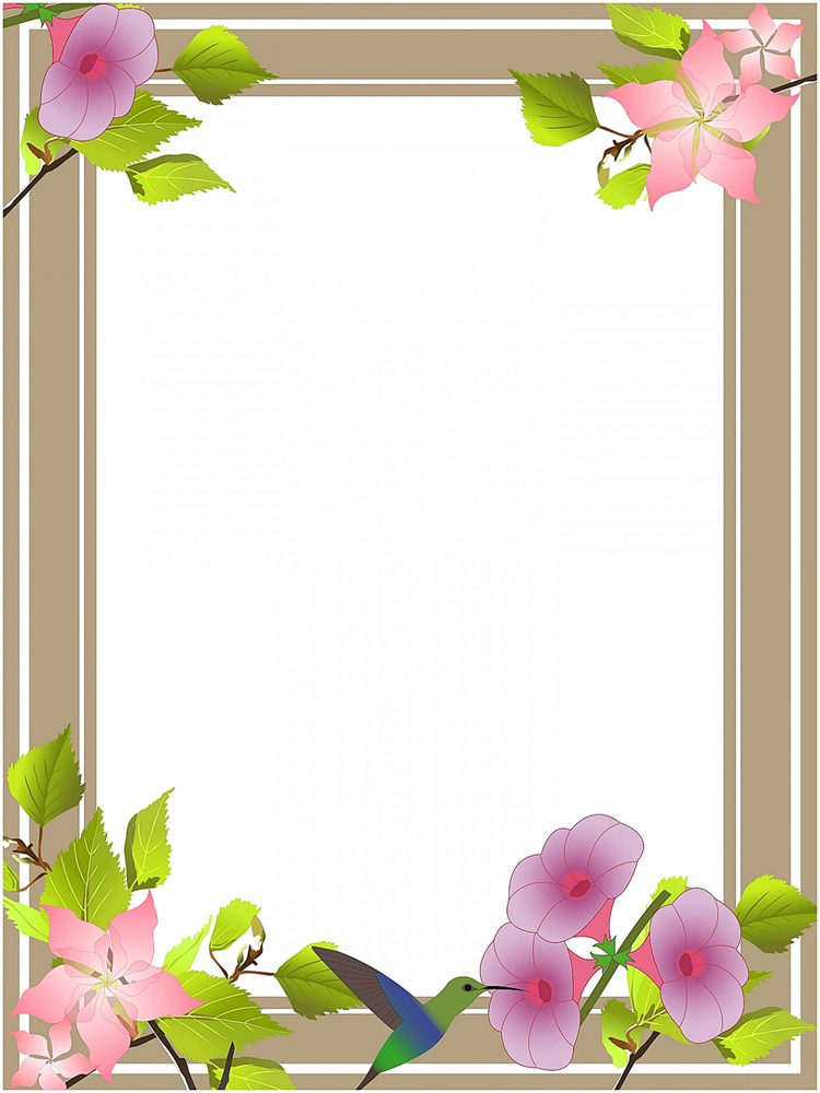 clip art borders with flowers
