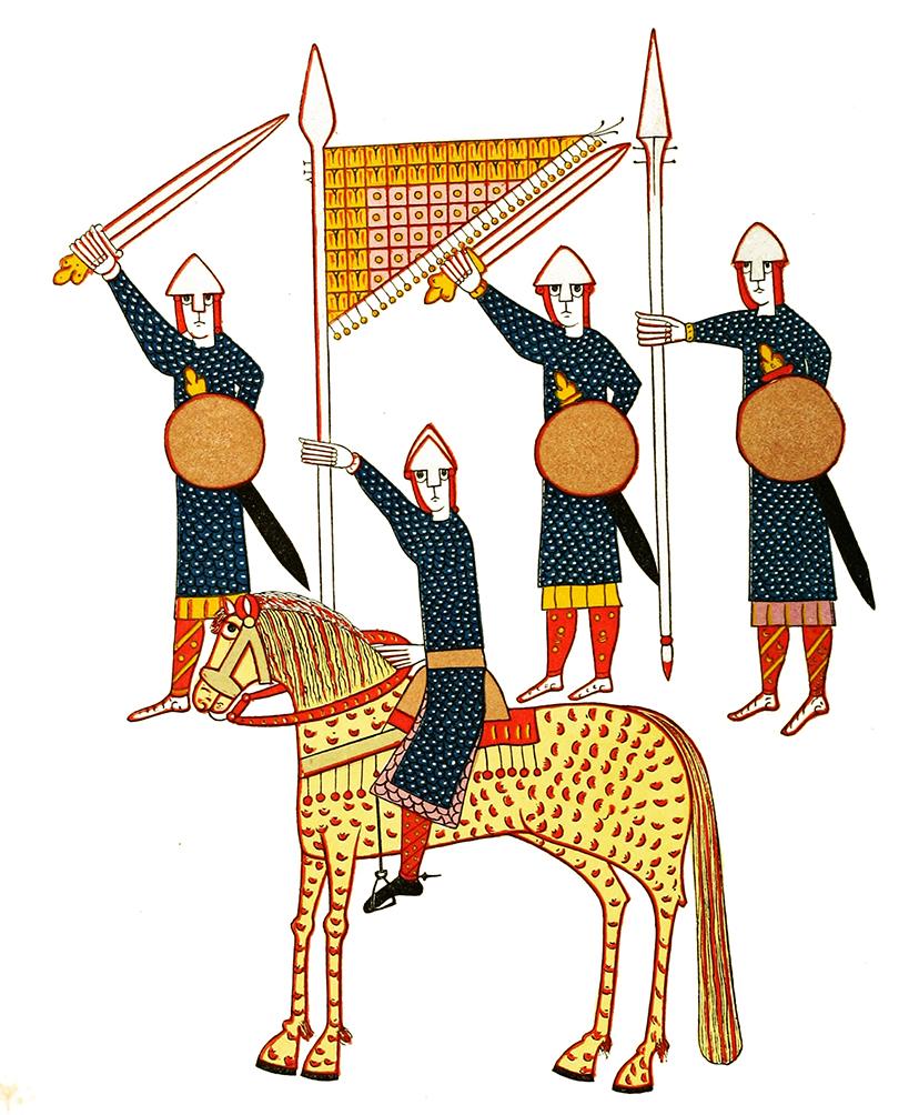 11th century picture of Spanish warriors