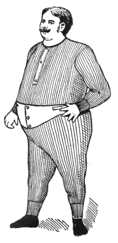large men's underwear Victorian time