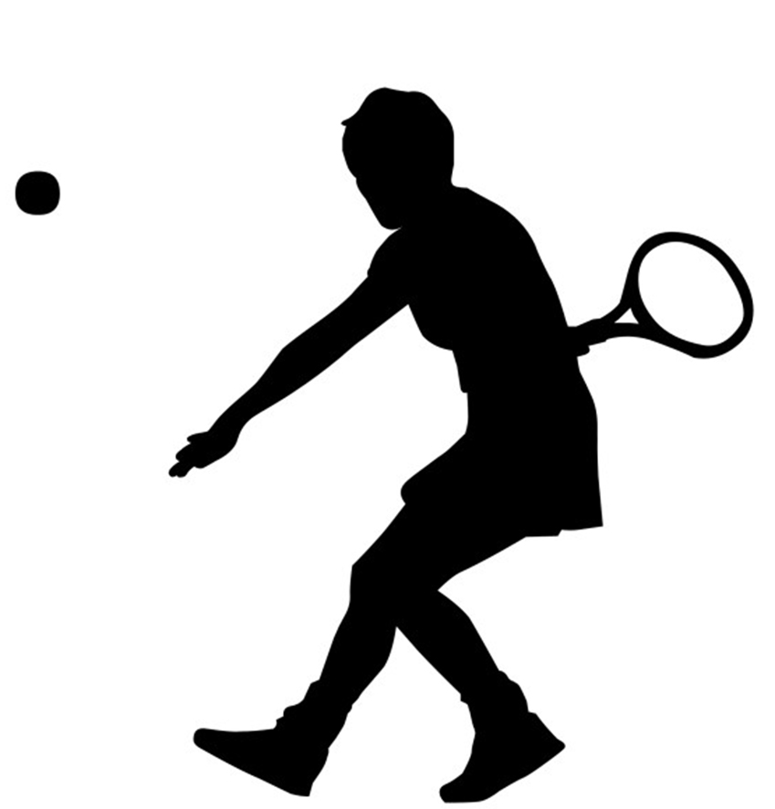 sport clipart tennis player