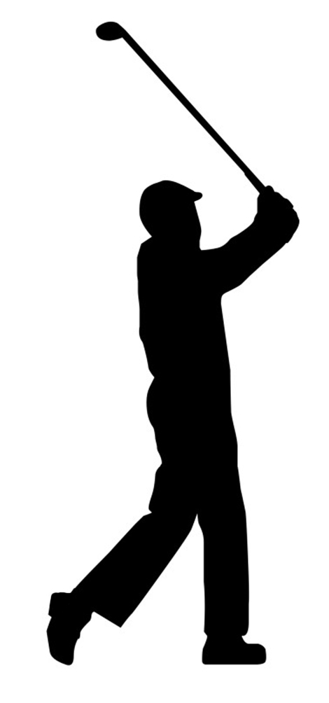 Golfer Clip Art Black And White
