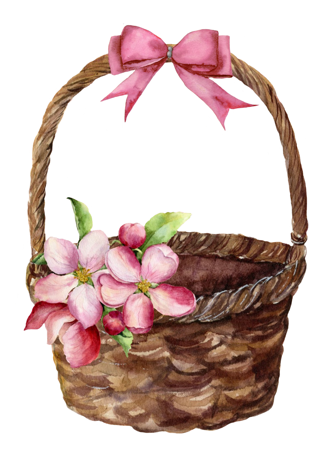 spring basket with flowers