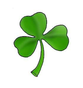 shamrock st patricks day clipart