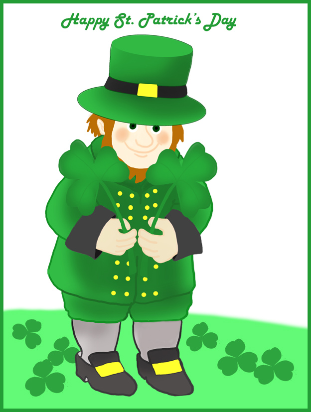 st. Patrick's Day joke and clipart