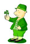 St. Patrick's day leprechaun shamrock