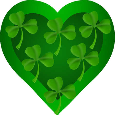 St. Patrick's heart with shamrock