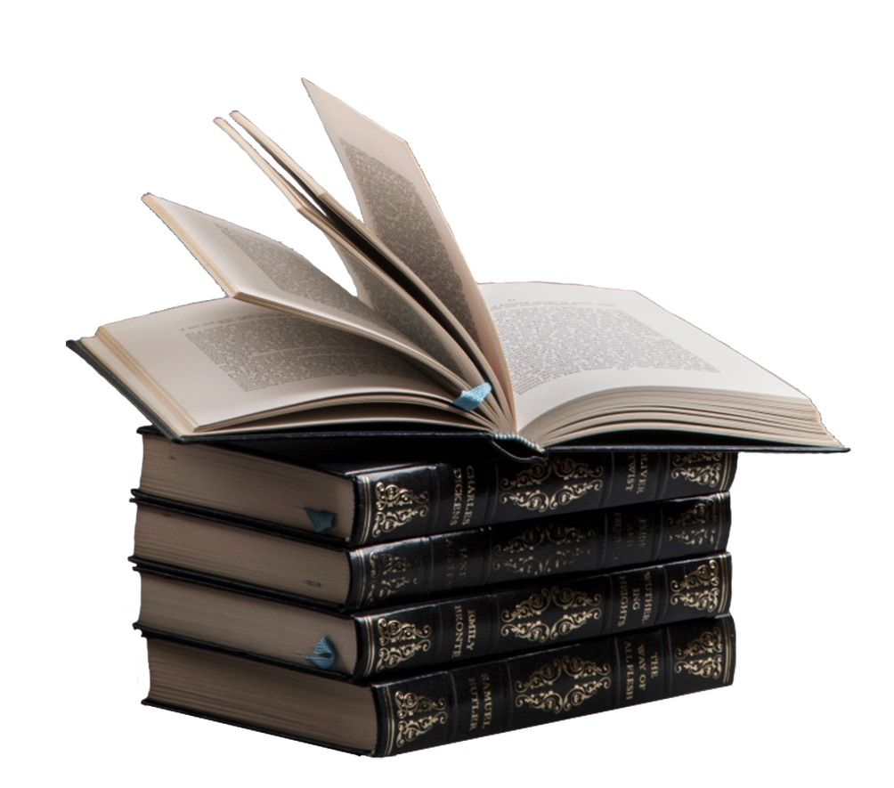 stable of books open book clipart