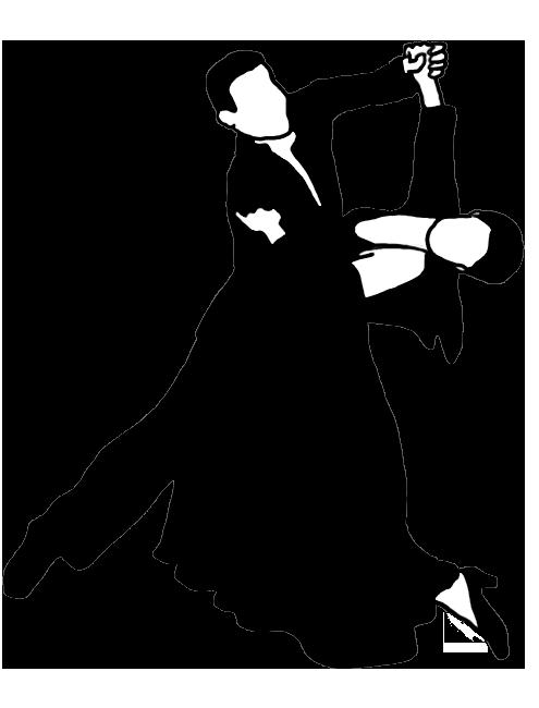 standard dance silhouette black white