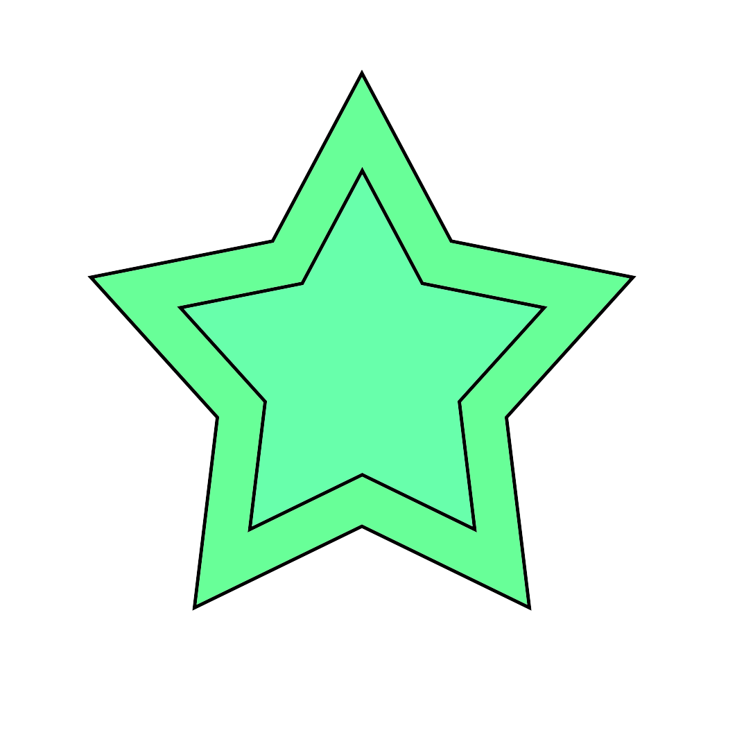 green star image framed