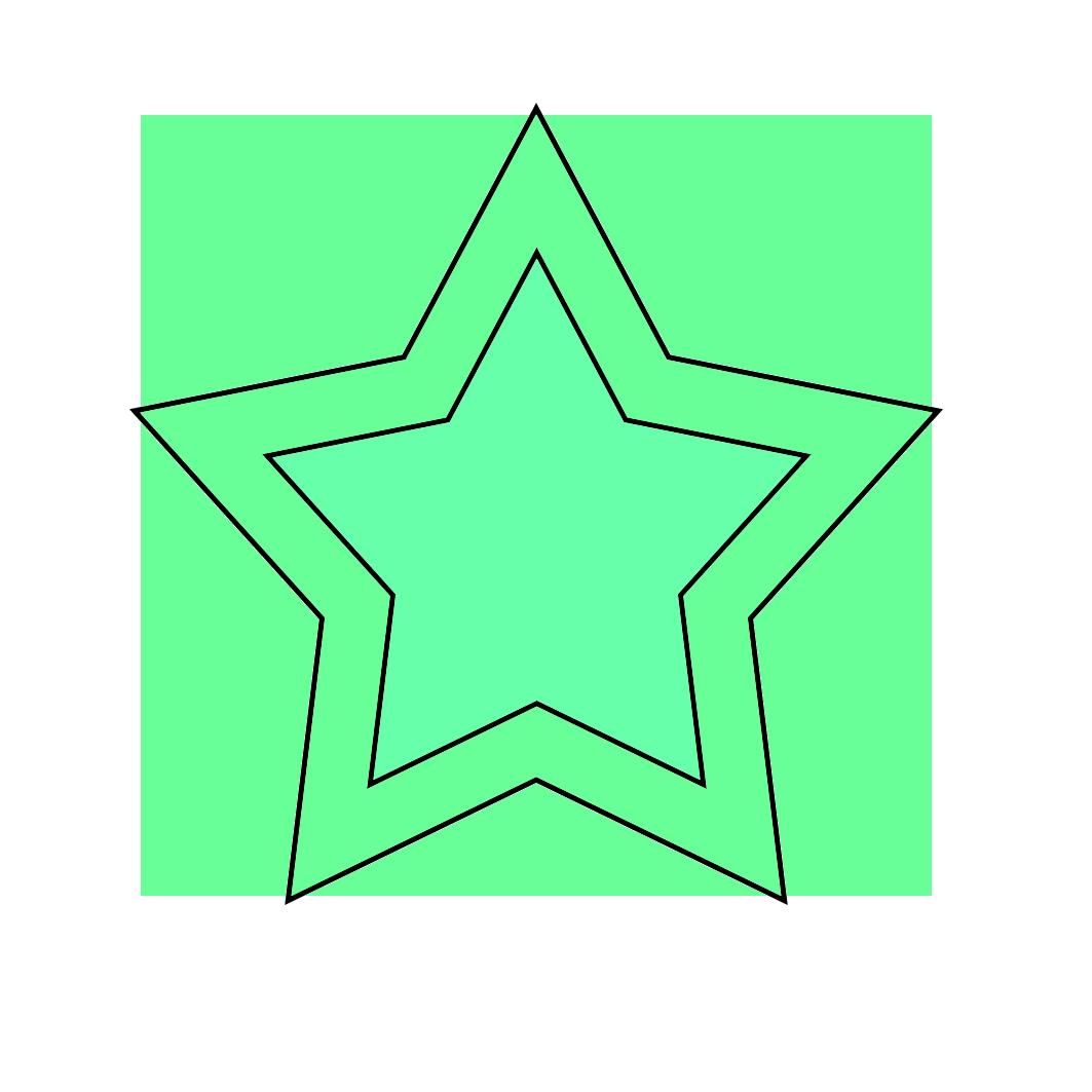green star image framed
