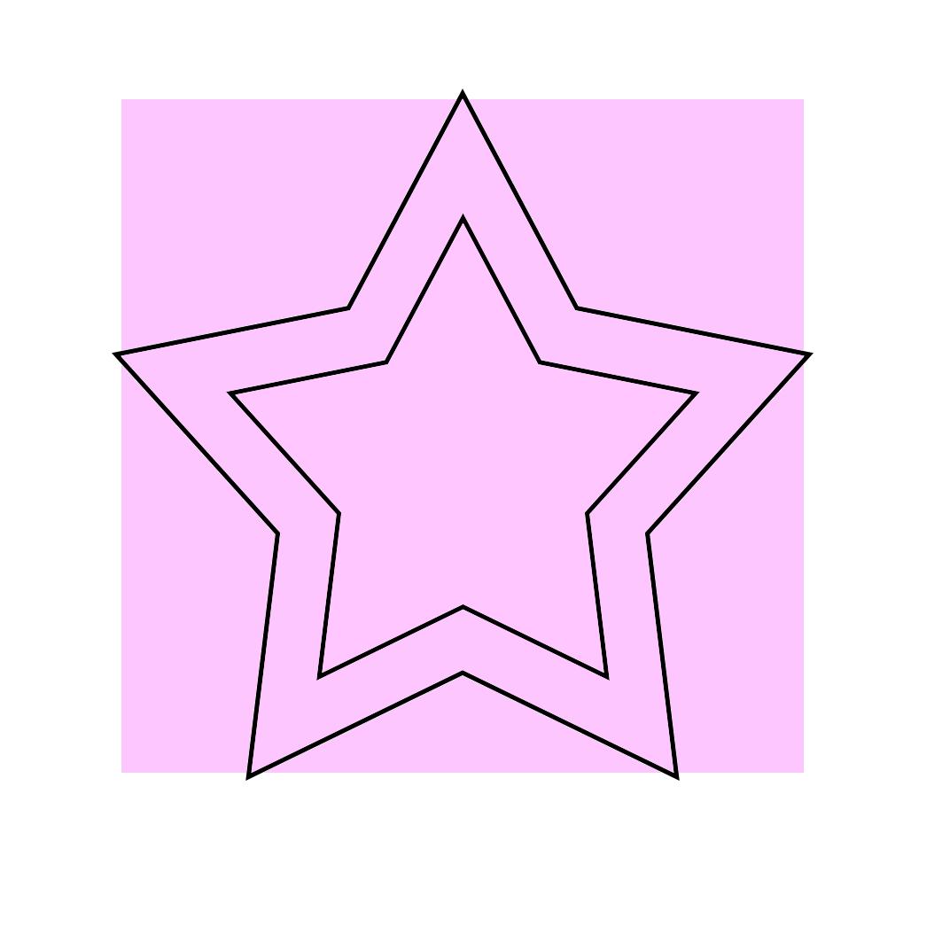 light pink star clip art