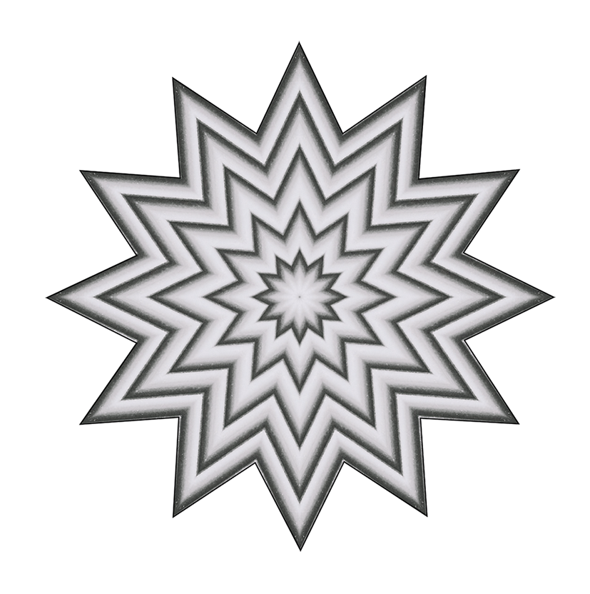 grey star pattern clipart