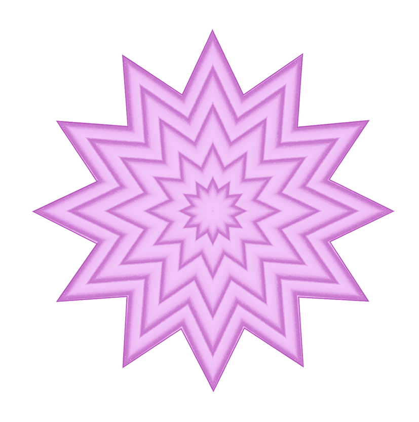 pink clipart with star pattern