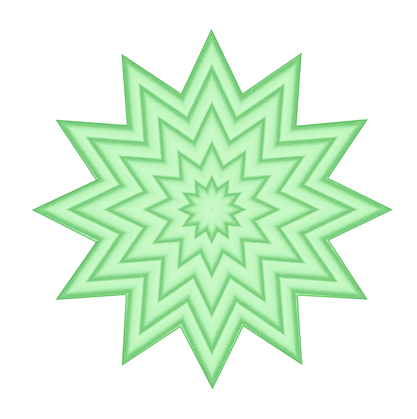 green pattern clipart of stars