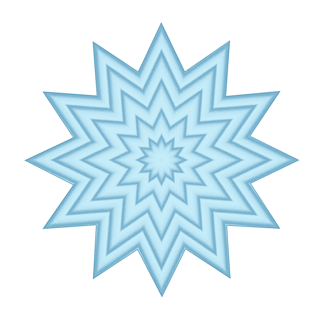 light blue star pattern