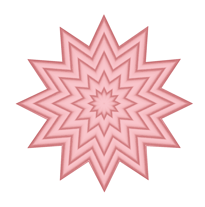 light red star
