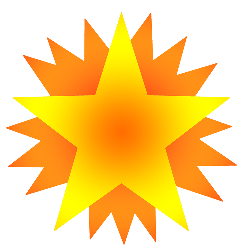 yellow star on orange stars image