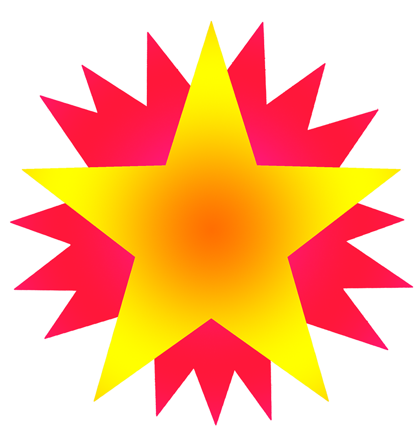 Yellow star on red stars