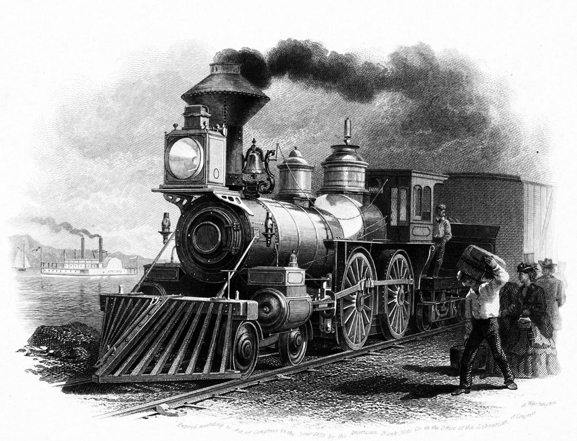 steam train clipart 1873