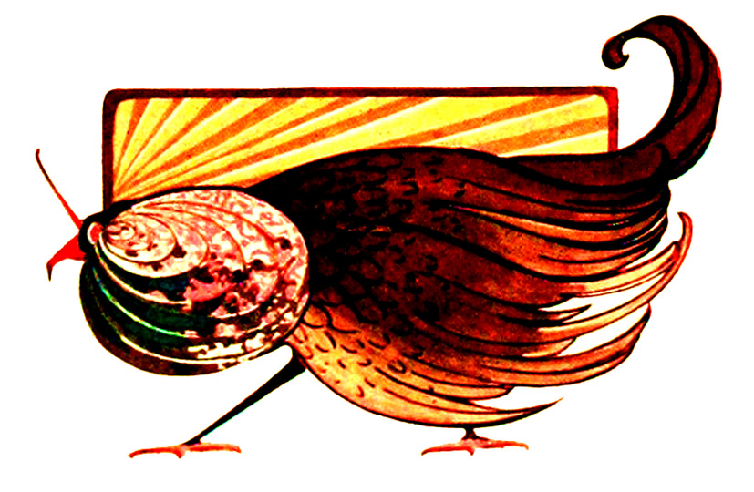 Art Nouveau picture of bird