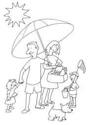 Family at holiday at the beach