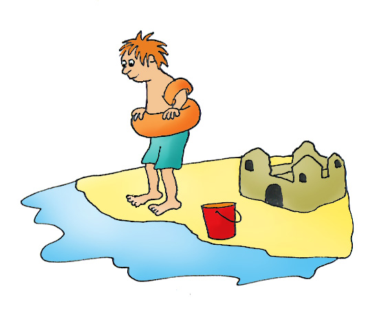 summer clip art bathing boy