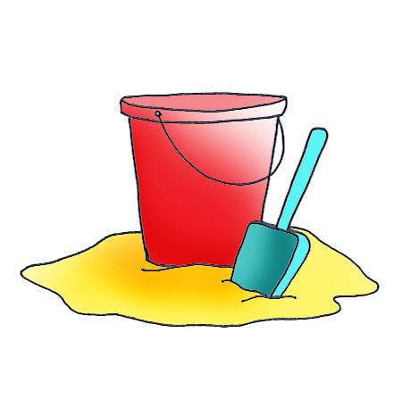 summer clipart bucket spade