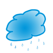summer graphics raining blue cloud