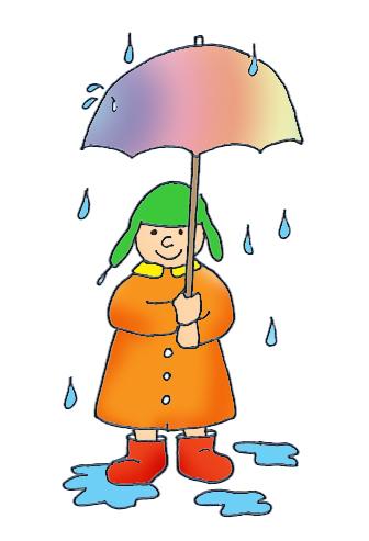 summer clipart rain