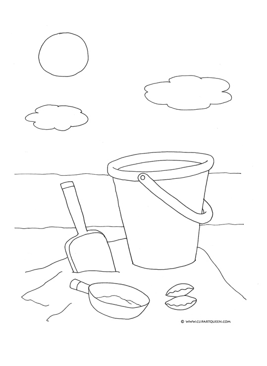 Beach Buckets Coloring Pages Coloring Pages Bucket And