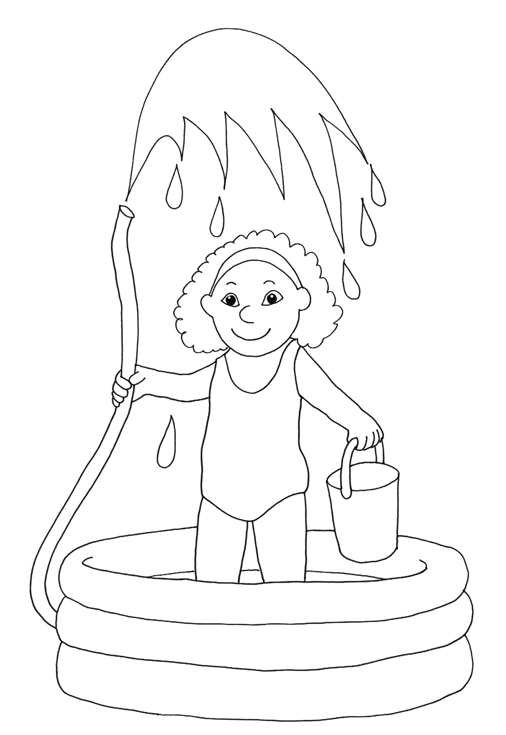summer coloring sheet for kids