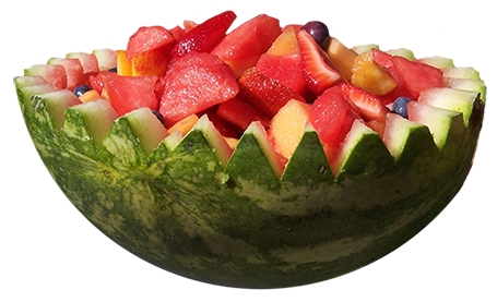 summer fruit bowl watermelon