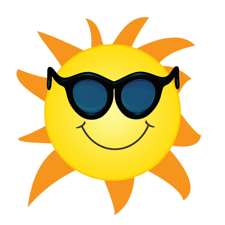 sun with orange sun rays clipart PNG