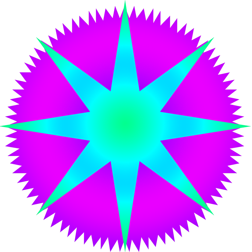 blue purple star image