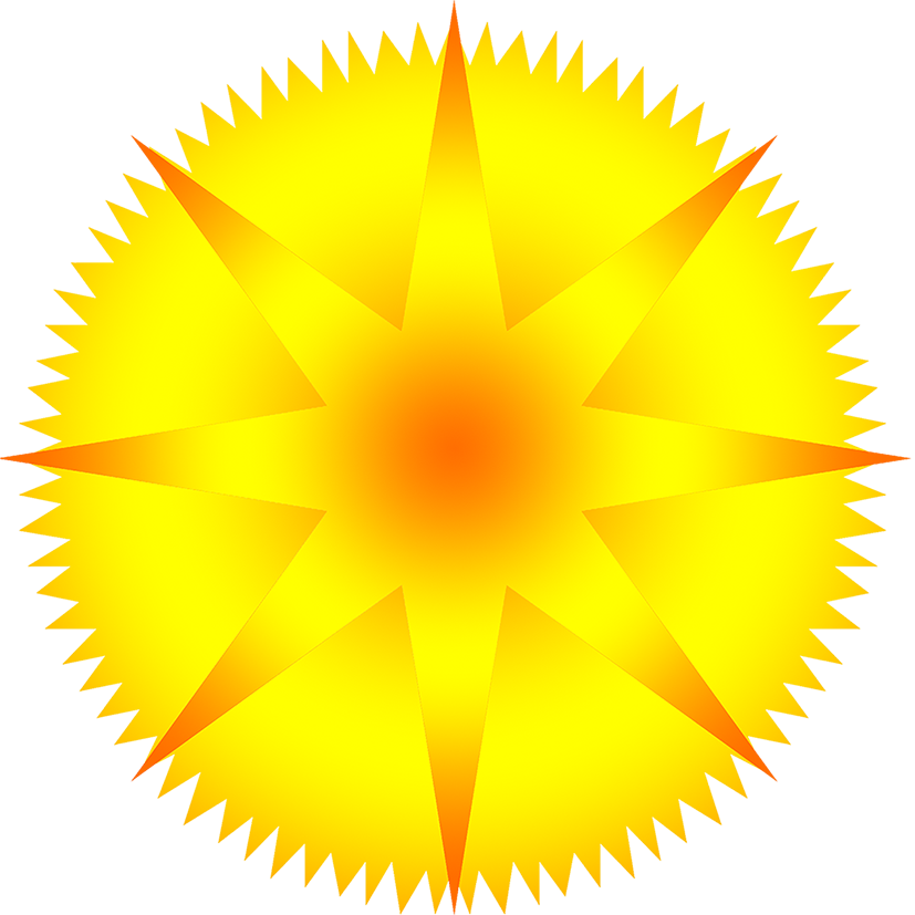 image of star with rays