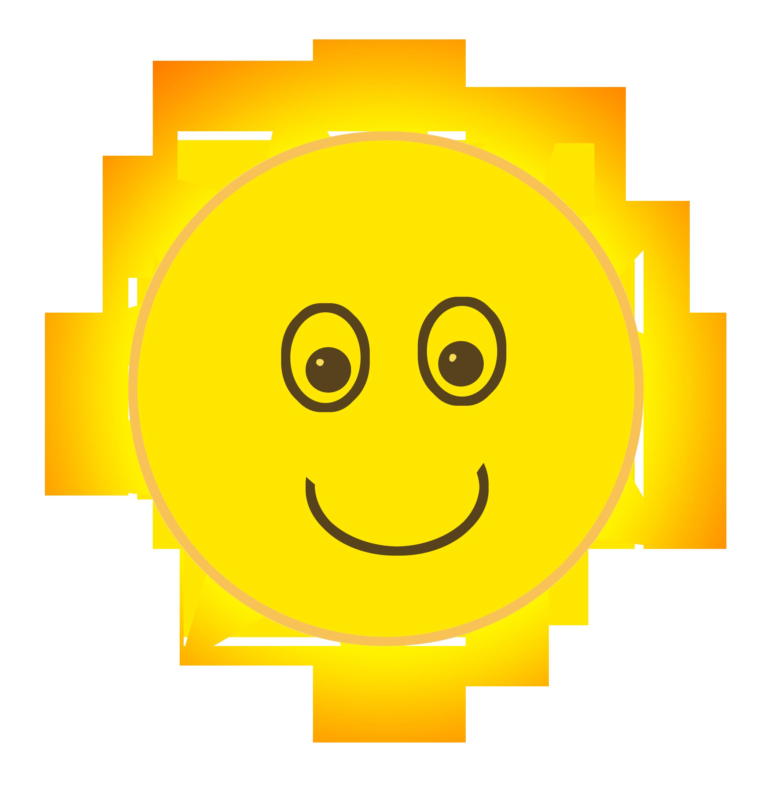 the sun cartoonish