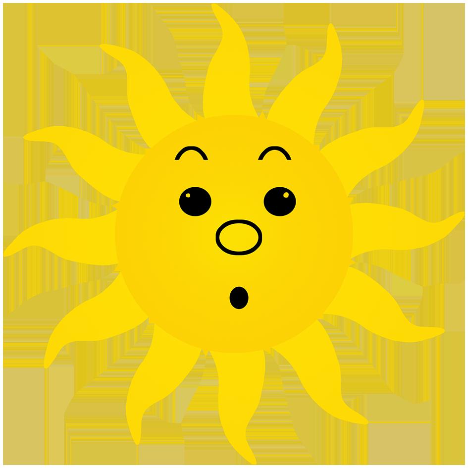surprised sun drawing