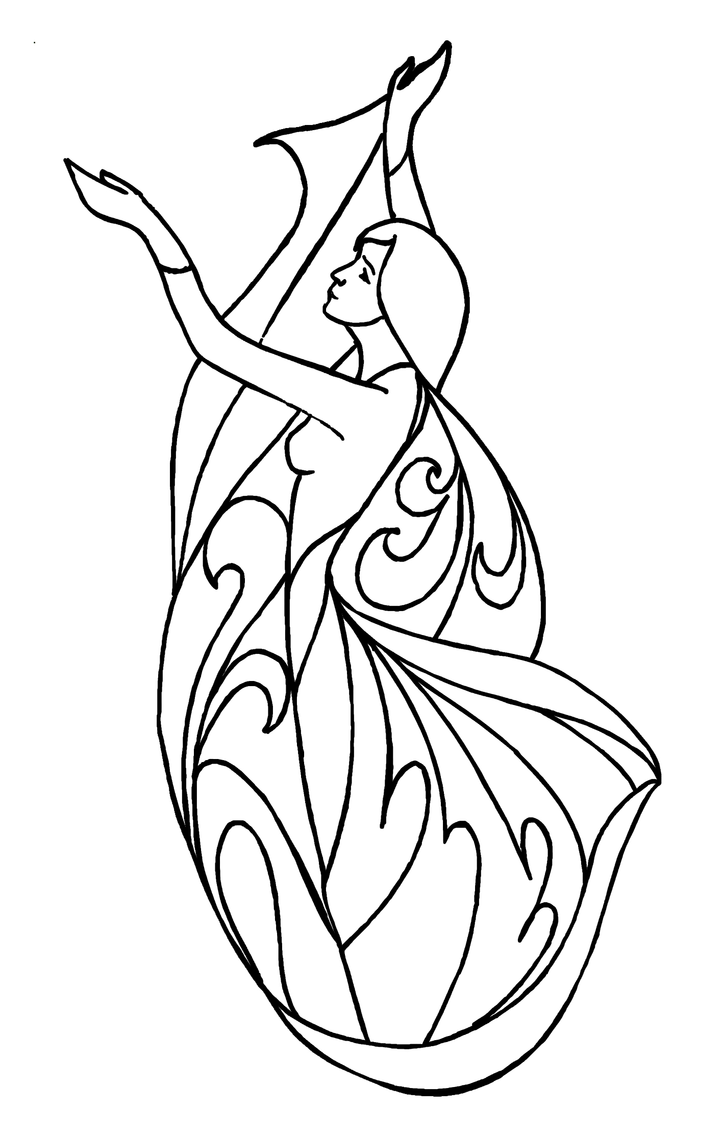 coloring dancer