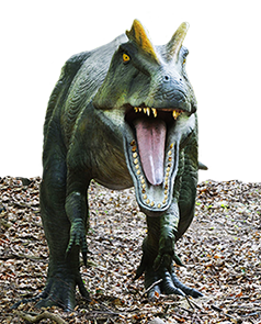 scary T. rex dinosaur attack