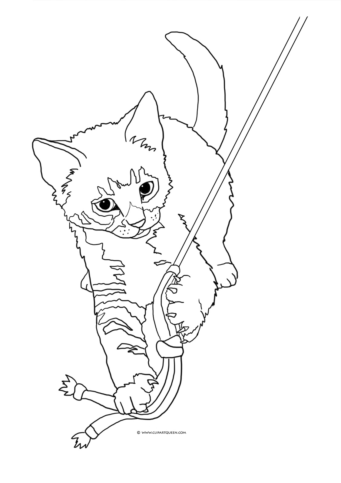 cats and kitten coloring pages - photo#43