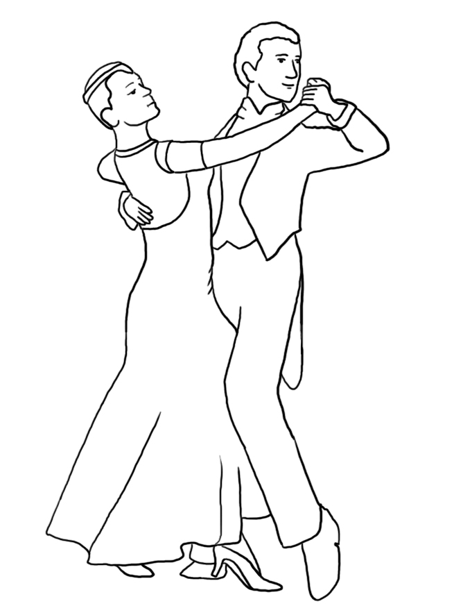 Tango coloring page