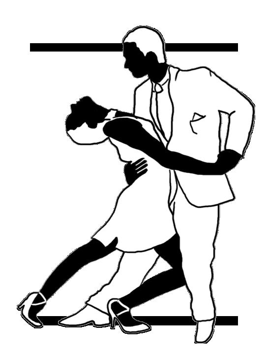 tango silhouette black white