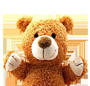 upper part of happy tedd bear