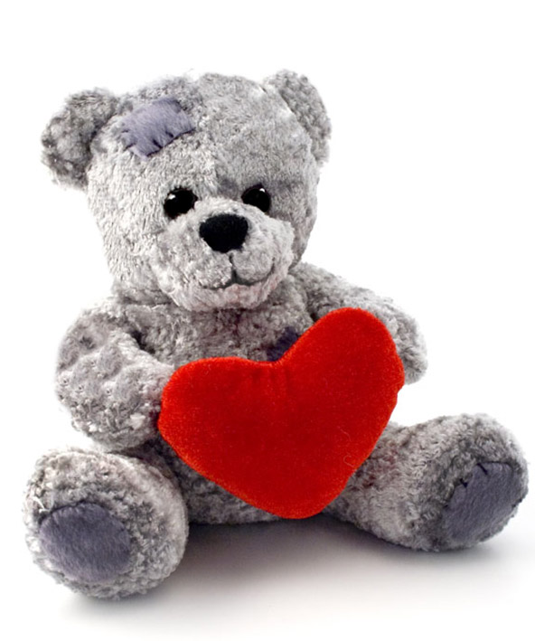 teddy bear with red love heart