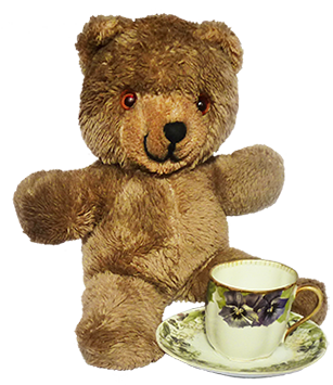 Teddy bear tea party clip art
