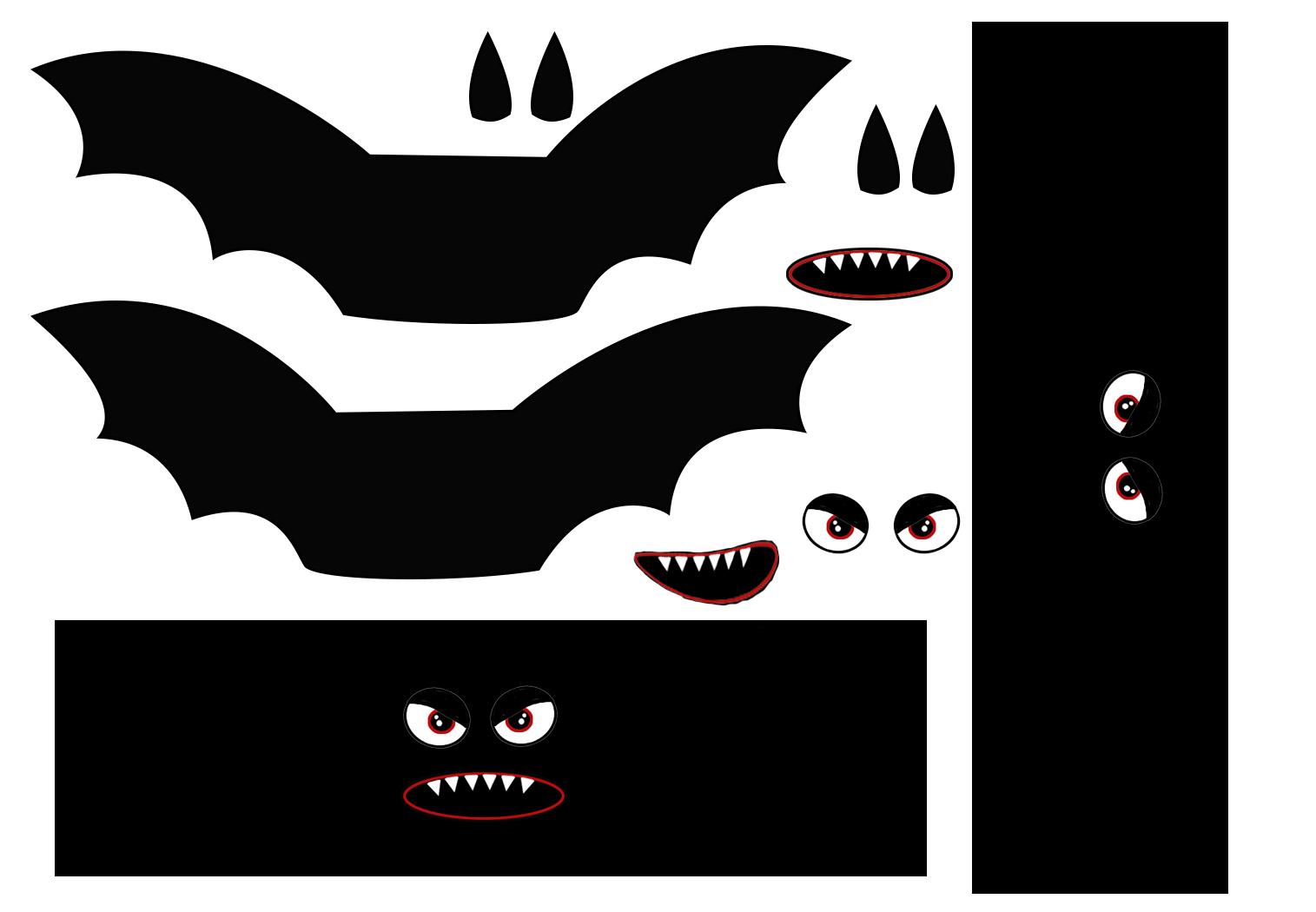 Halloween decorationg ideas bat template