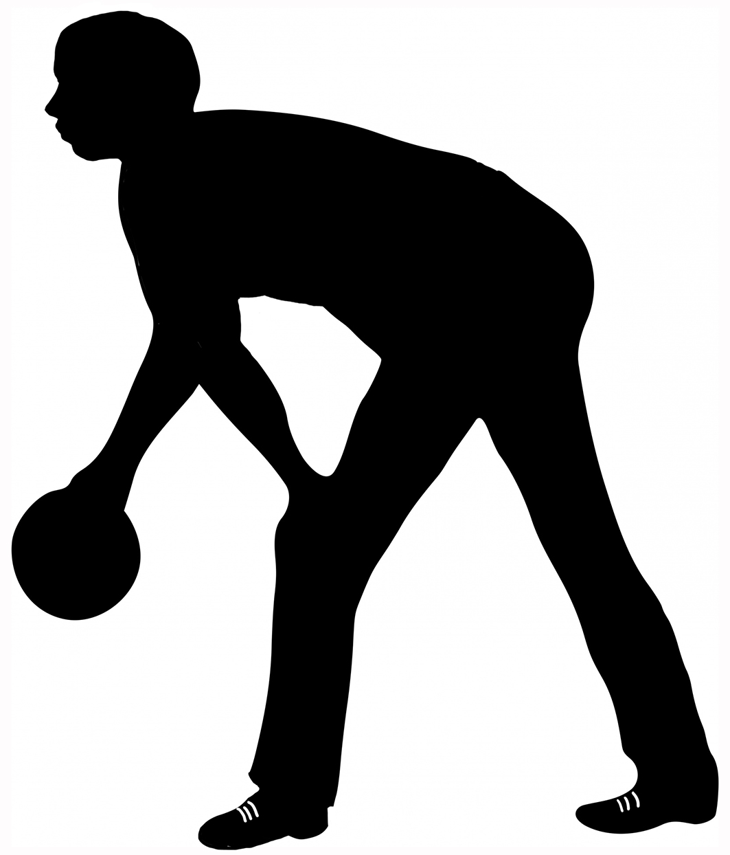 man with bowling ball clipart