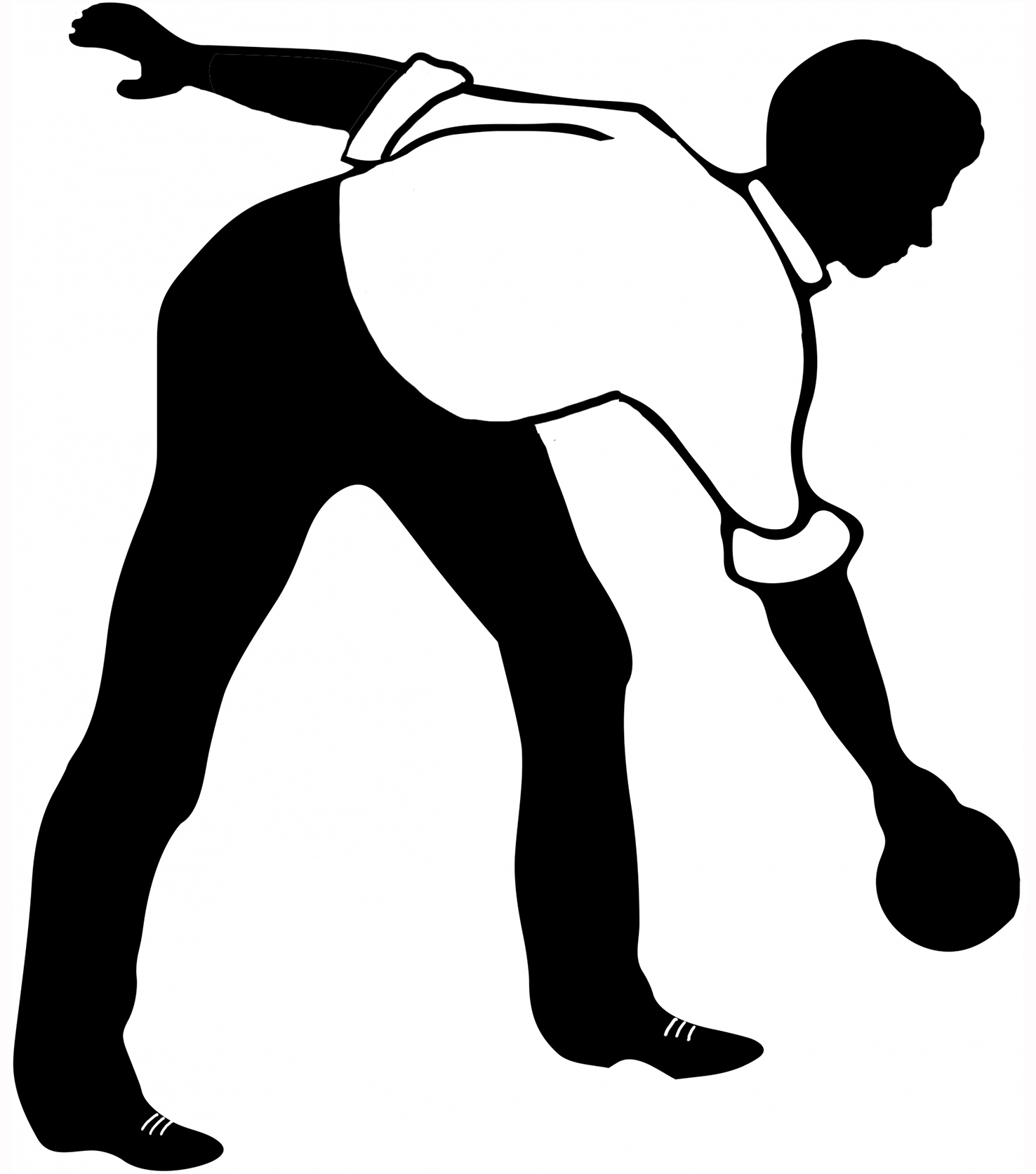 ten bowling silhouette of man