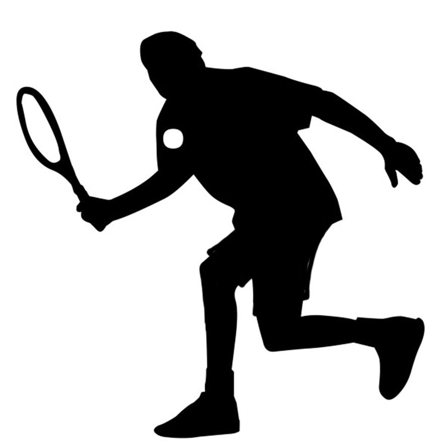 tennis sport silhouette